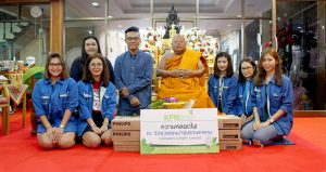 KPN Green joins donating lamps to a temple